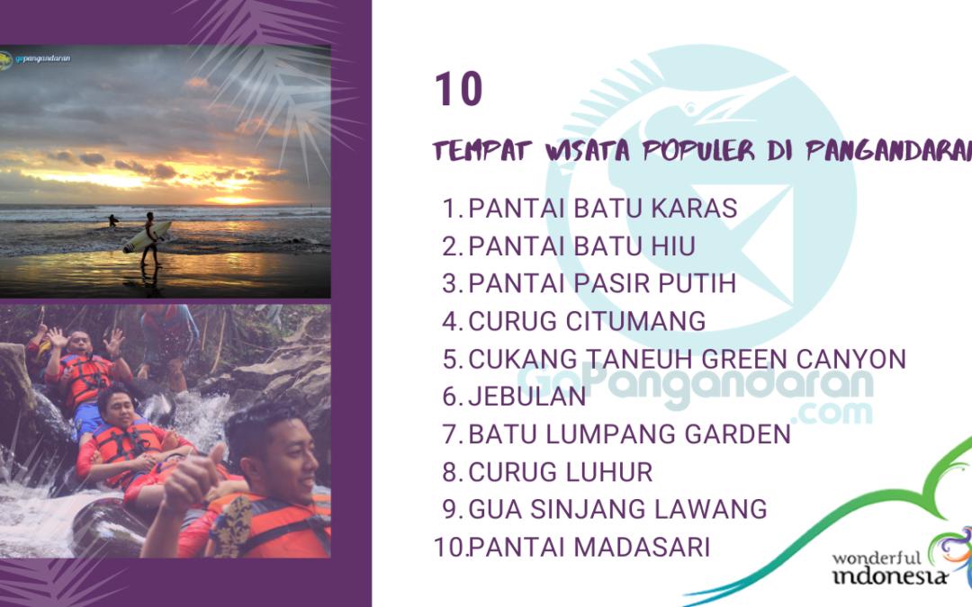 10 TEMPAT WISATA POPULER DI PANGANDARAN